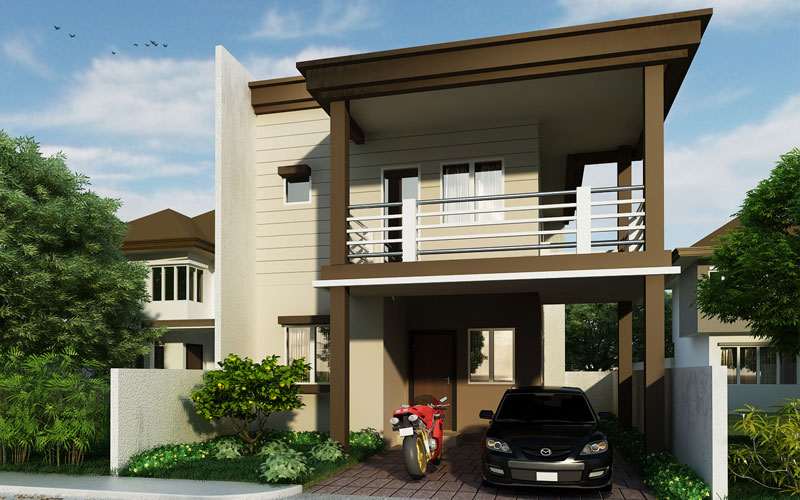 Two storey residential house design phd 2015008 pinoy for Two storey residential house design