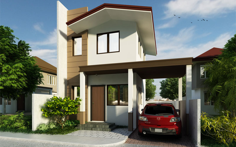 Small two storey house PHD-2015009 - Pinoy House Designs