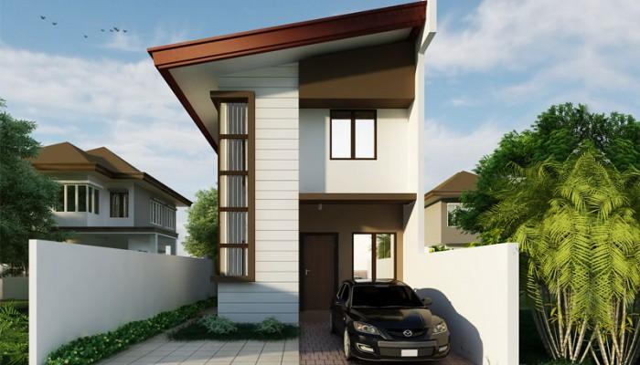 Karel U2013 2 Story Floor Plan In A Narrow Lot | Floor Area: 59 Sq.m. | 3 Beds  | 2 Baths