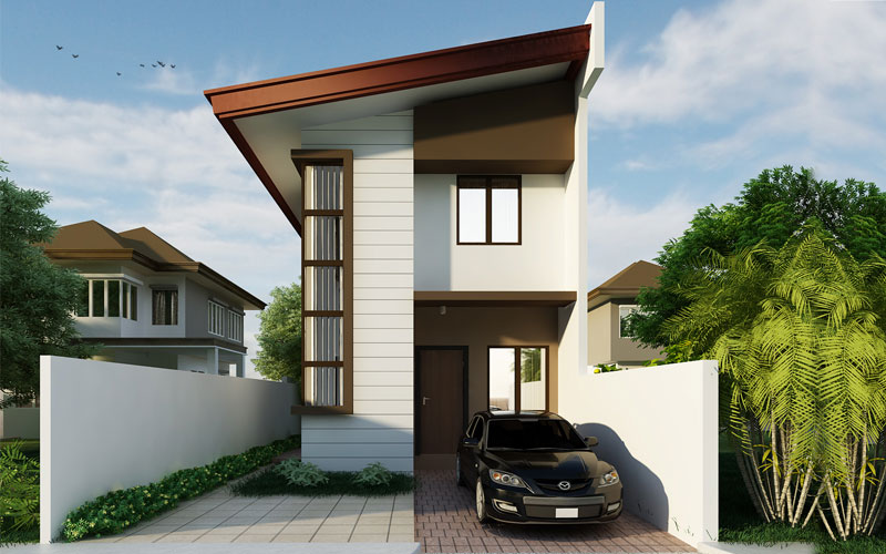 Simple 2 storey house design home design and style for Simple two storey house design