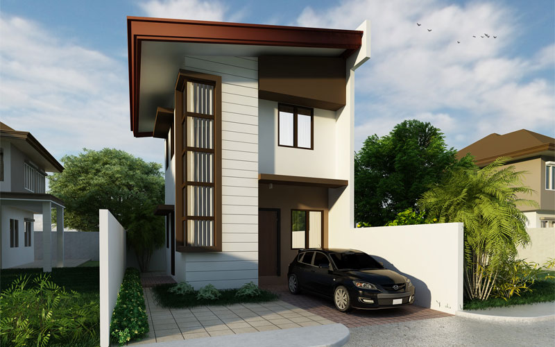 2 story floor plans series phd 2015010 pinoy house designs for Two storey house plans for narrow lots