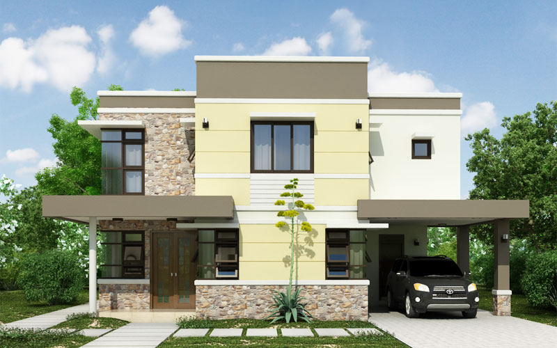 Two storey house phd 2015011 pinoy house designs for European contemporary house plans