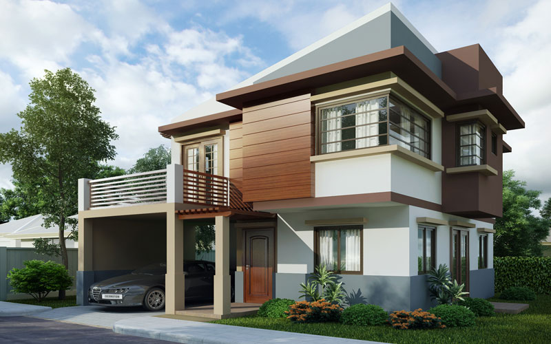 Two storey house design PHD-2015004 View1