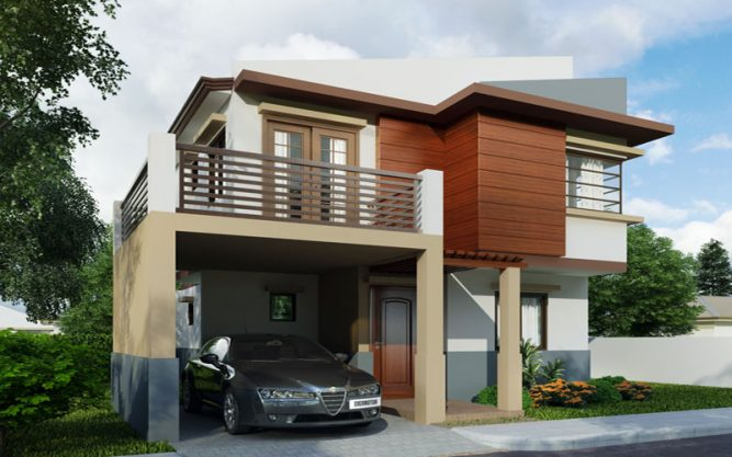 Two storey house design PHD-2015004 View2