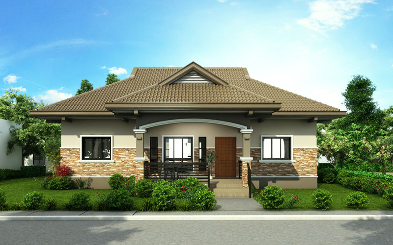 One storey house design alejandro modern adaptation with for Modern house design 2015 philippines