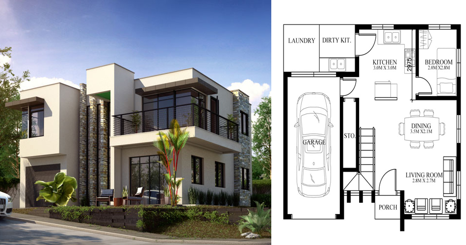 Modern House Design, PHD-2015015 - Pinoy House Designs on double floor house design, double storey house in selangor, simple model houses design, dreamhouse design, 3 storey house design, double storey house in south africa, 3-story commercial building design, bungalow design, townhouse design, double storey office, double wide mobile home with porch, 2 story office building design, modern residential building design, double storey terrace house, double storey garden design, double storey pool, 2 storey exterior design, double story home exterior design, two storey house design, west coast modern design,