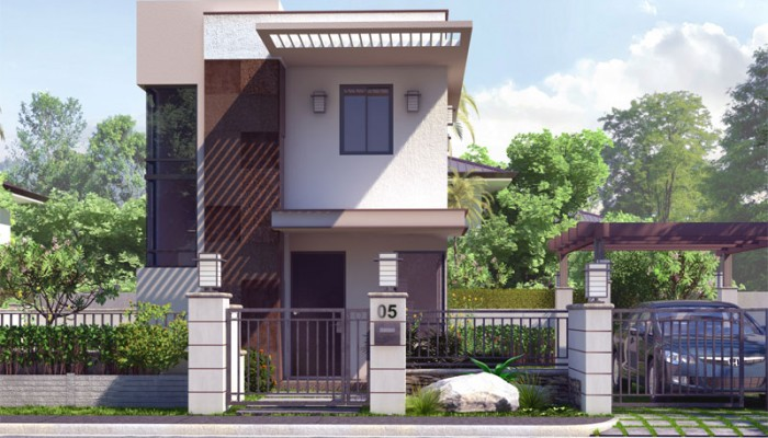 Pinoy house designs for Small house design 80 square meter lot