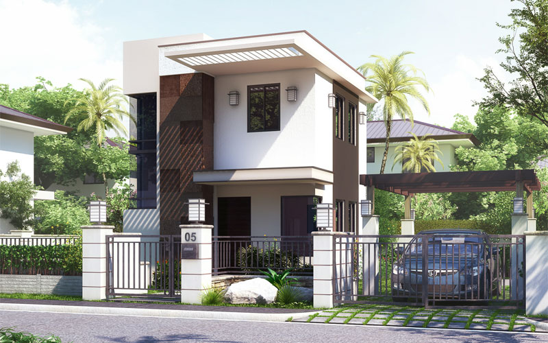 Santino Small House Design Built In Two Storey on Bungalow Style House Plan