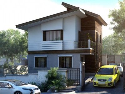 Ricardo two storey modern with firewall phd ts for Bungalow house with firewall
