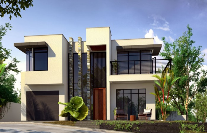 Modern house design phd 2015015 pinoy house designs for Casa moderna e accogliente