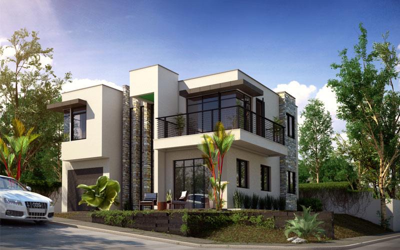 Corner House Design - Home Design