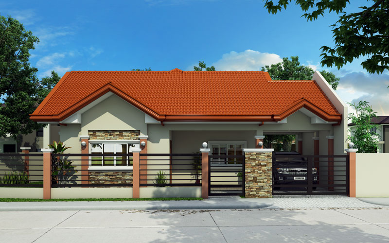 Bungalow house phd 2015016 pinoy house designs for Home design philippines small area