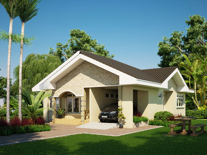 Designs Plans Floor Plan Bungalow Style Affordable 3d Modern ... Der Moderne Bungalow Wohnkomfort Behaglichkeit