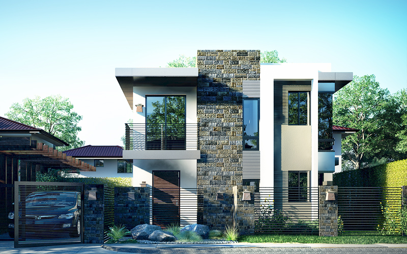 Modern house design phd 2015018 for Small modern house designs and floor plans
