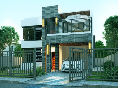 Modern house design phd 2015018 pinoy house designs for Small house design worth 300 000 pesos