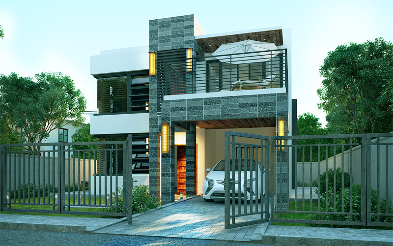 Contemporary House Design-2015020-front-view