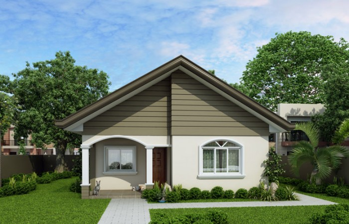 pinoy house design PHD 2015021 front view 700x450 - 50+ Simple Interior Design For Small House In Philippines  PNG
