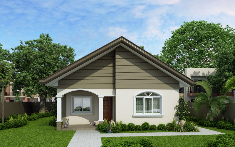 Carmela simple but still functional pinoy house for Front look of small house