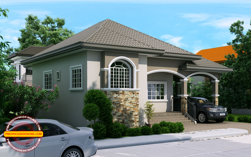 Elevated One Storey House Design PHD-2015022