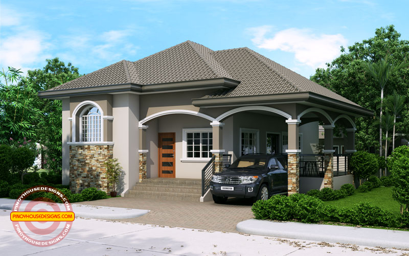 Elevated one storey house design phd 2015022 pinoy house for House garage design philippines