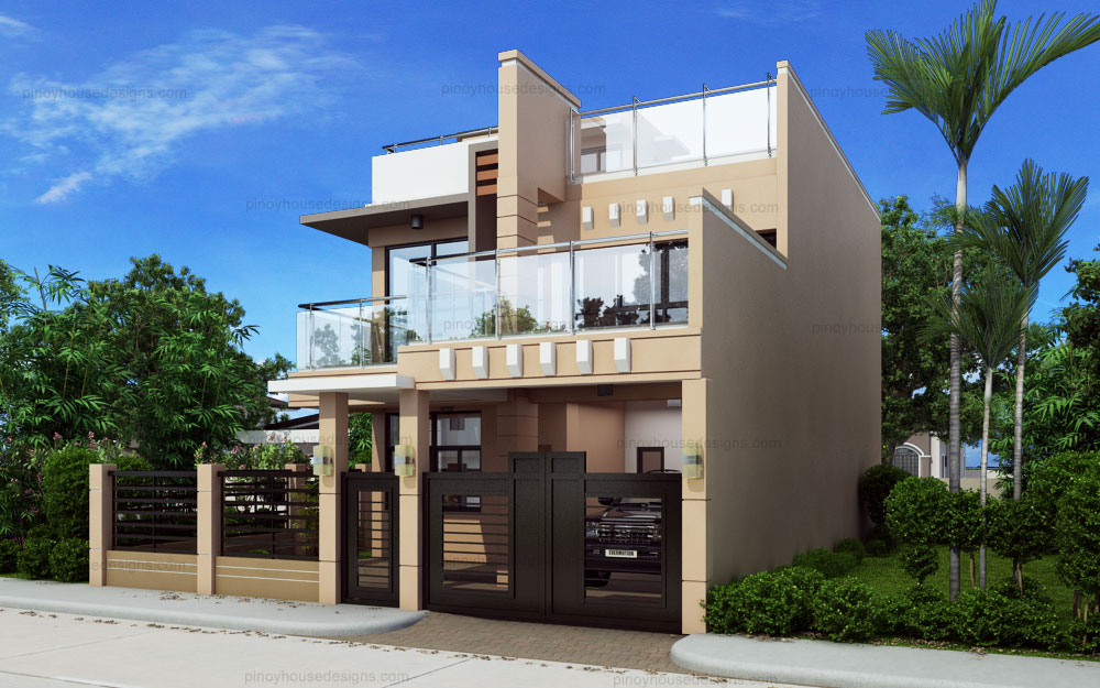 SHD 2014012 DESIGN9 View03 - 47+ Small Two Storey House Design With Firewall  Images