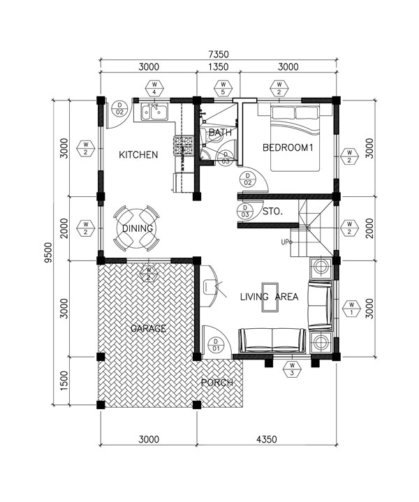 Two Story Contemporary House Plan With Open To Below