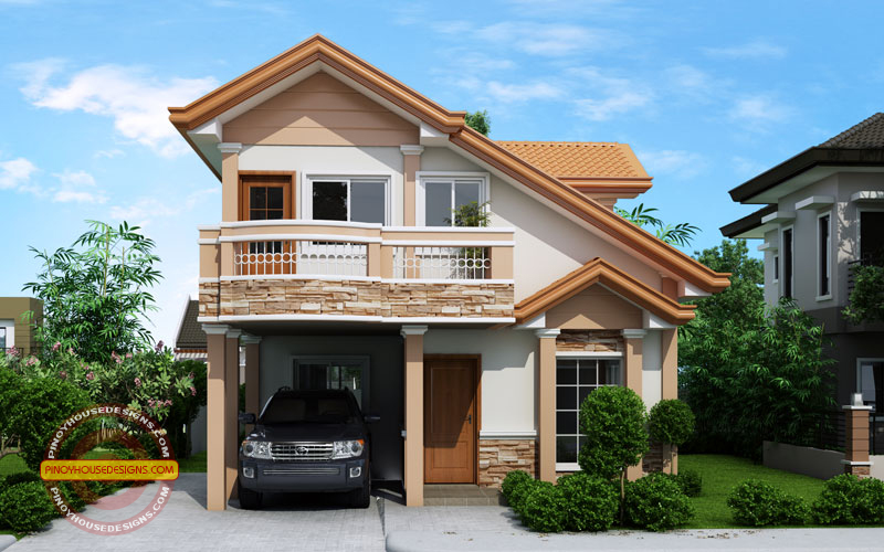 modern 2 story house plans two story contemporary house plan with open to below pinoy house designs pinoy house designs 9782