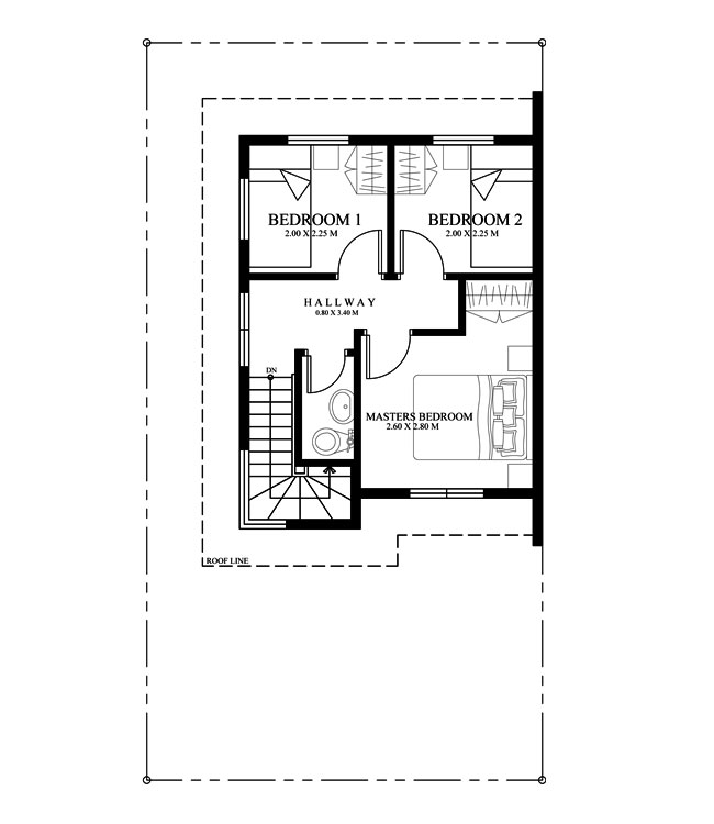 phd 2015010 second floor plan - Second Floor Floor Plans 2
