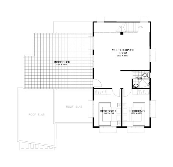 2 Storey Cool House Plan Second floor