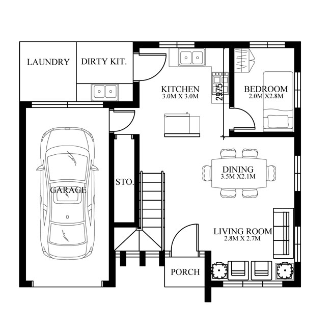 Home Design Ideas Floor Plans: Modern House Design, PHD-2015015