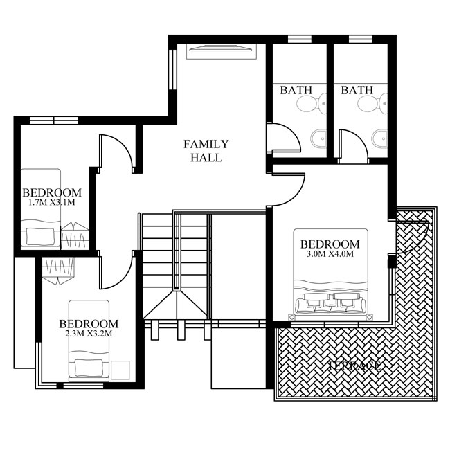 pinoy-house-design-2015015-second-floor-plan