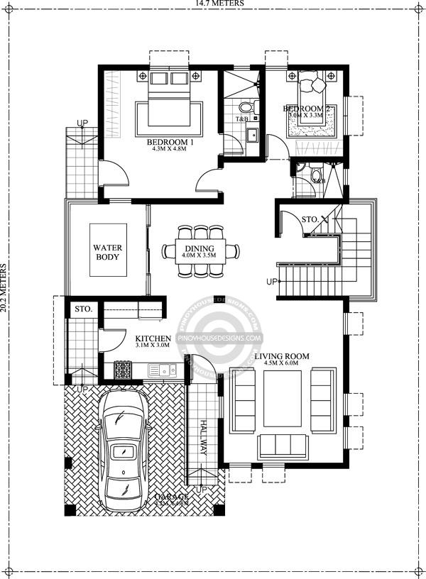 Contemporary-House-Design-ground-floor