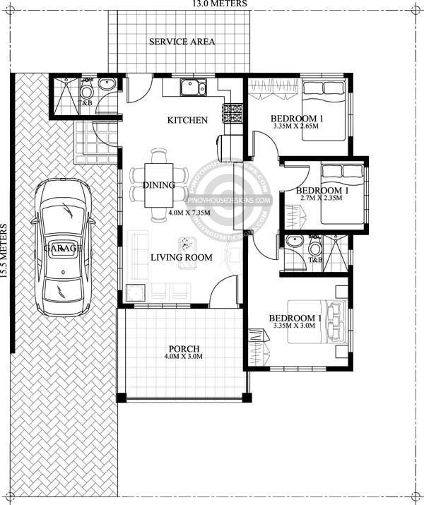 One Storey House Plan