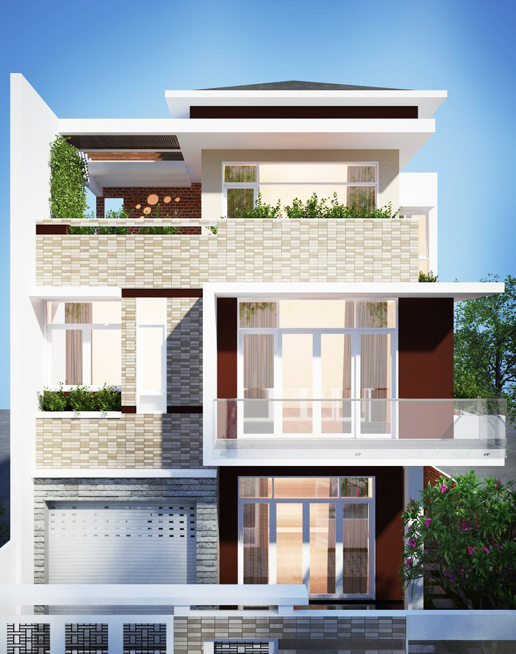 Three Storey Modern House Design - Pinoy House Designs
