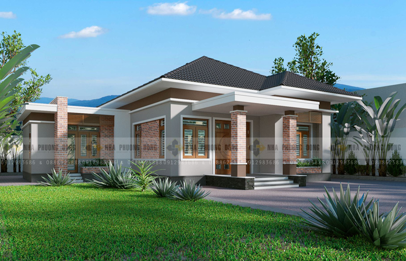 Small Contemporary House Design Side perspective