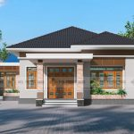 Small Contemporary House Design front view
