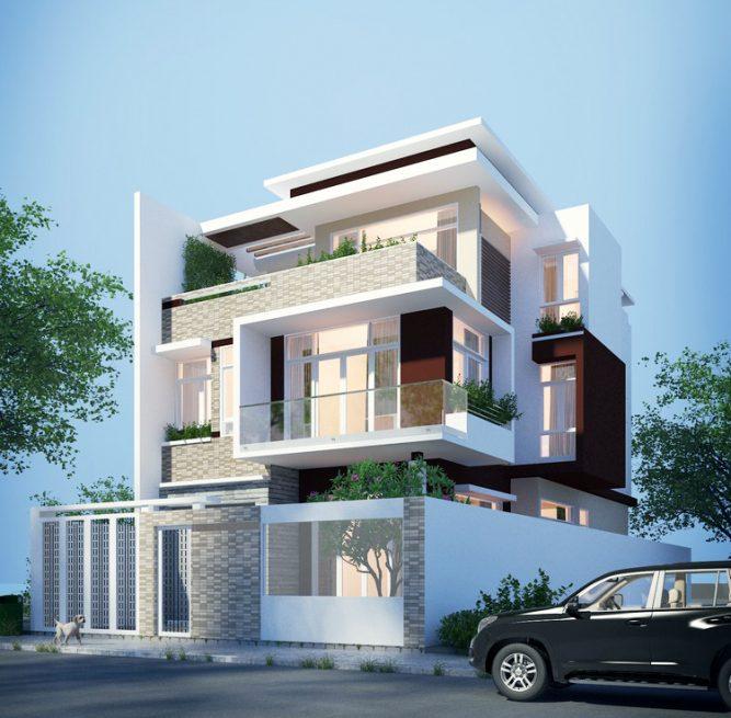 Three Storey Modern House Design