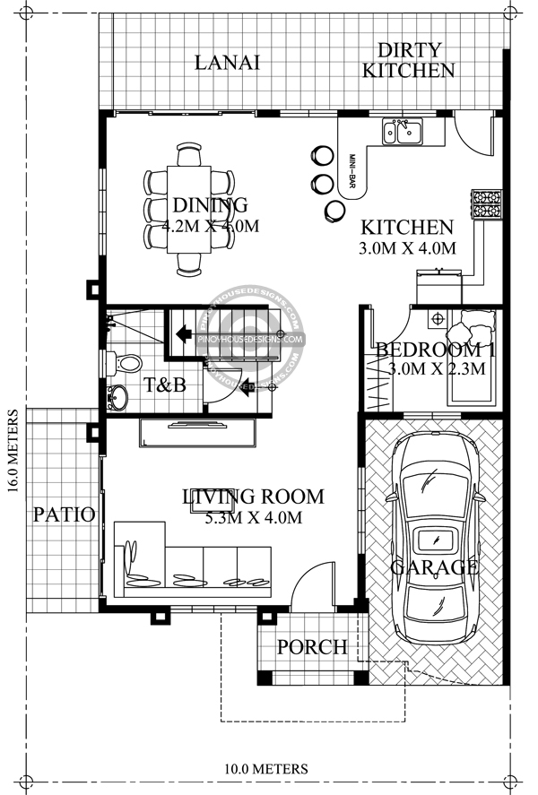 Two-Storey-House-with-Firewall-Ground-Floor-Plan