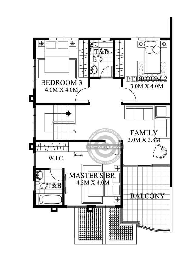Two-Storey-House-with-Firewall-Second-Floor-Plan