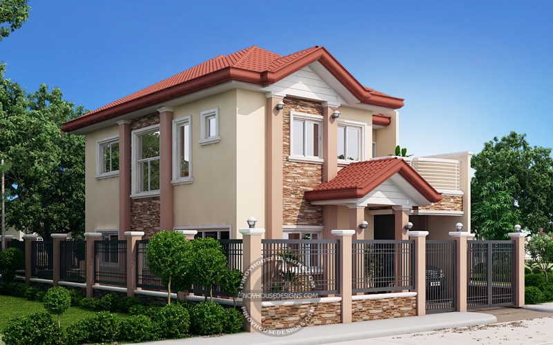 Two Storey House with Firewall_View01