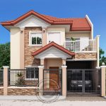 Two Storey House with Firewall_View02