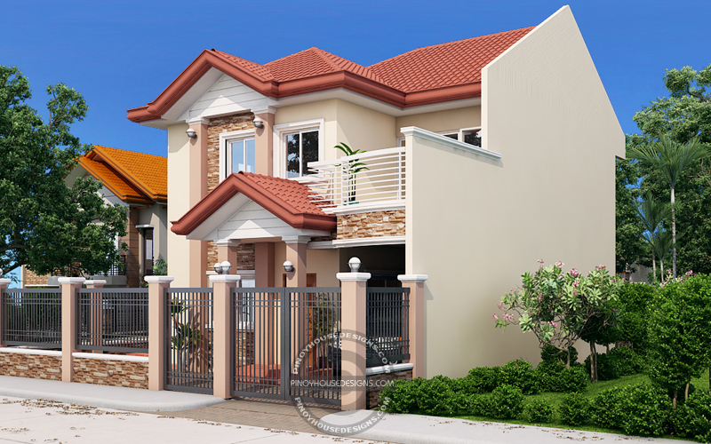 Two Storey House with Firewall_View03