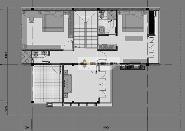 two story contemporary house design second floor