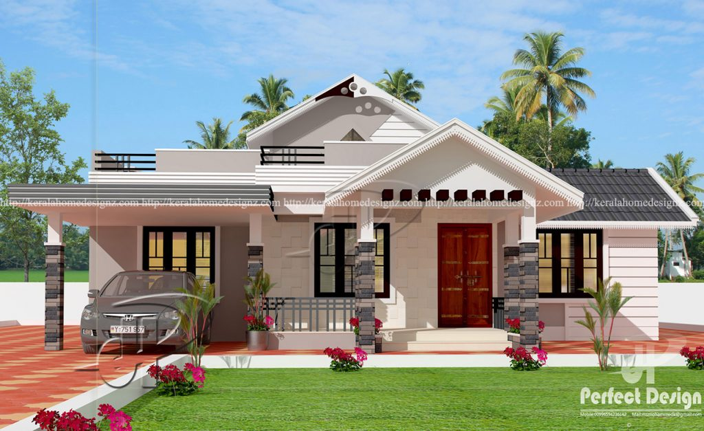 One storey house design with roof deck pinoy house for Pictures of house designs and floor plans