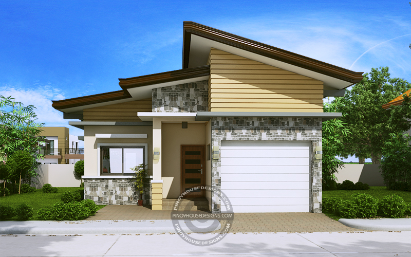 One Storey House Design front perspective