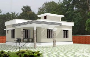 Picture of Cool one story residential house with roof deck