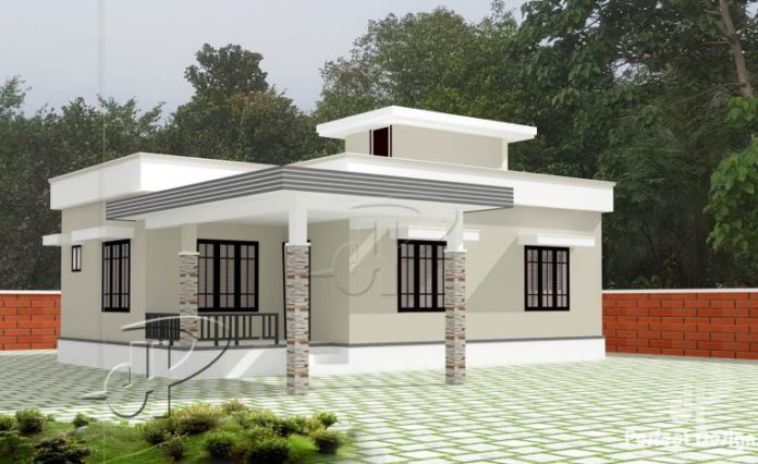 Cool One Story Residential House With Roof Deck Pinoy