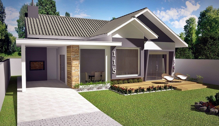 American-style 3 Bedroom House Plan