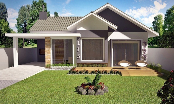 American style 3 bedroom house plan amazing architecture for Casa minimalista 120m2
