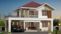 Picture of Modern Two Story Three Bedroom Residence with interior design